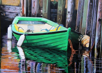 Green Dorey 24 x 30 Acrylic