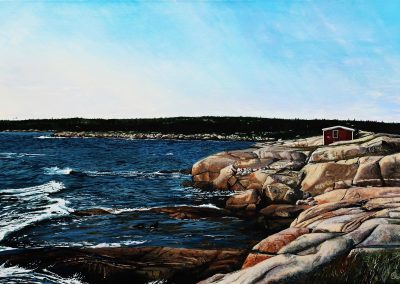 Atlantic Rocks 24 x 36  Acrylic