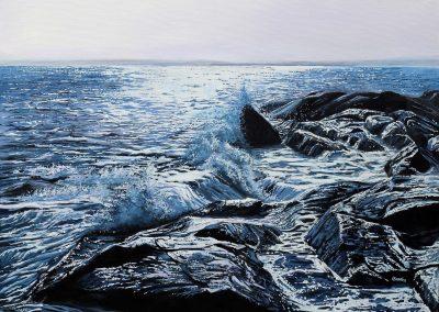 Blue Ocean Waves  20 x 24